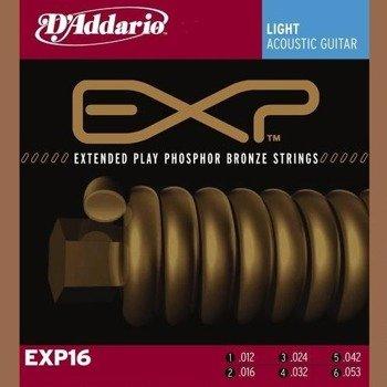 struny do gitary akustycznej D'ADDARIO Phosphor Bronze / LIGHT EXP16 /012-053/