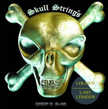 struny do gitary elektrycznej Skull Strings DROP-D Line /009-048/