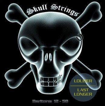 struny do gitary elektrycznej barytonowej Skull Strings BARITONE /012-058/