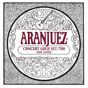 struny do gitary klasycznej ARANJUEZ A700 Concert Gold - Low Gauge