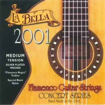 struny do gitary klasycznej LA BELLA Flamenco 2001FM Medium Tension