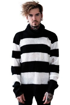 sweter KILL STAR - SEVEN (BLACK/WHITE)
