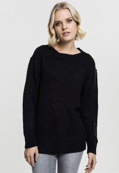 sweter LADIES BASIC CREW SWEATER black