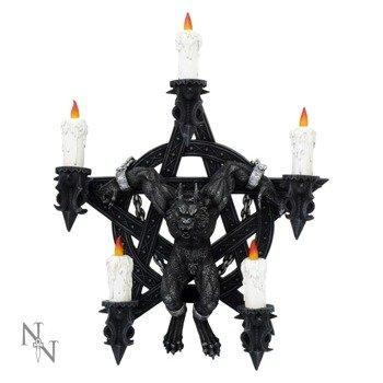 świecznik BAPHOMET CANDLE HOLDER, dekoracja