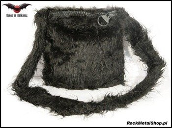 torebka SMALL BLACK FUR BAG