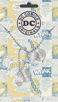 wisior/nieśmiertelnik DC COMICS - LOGOS
