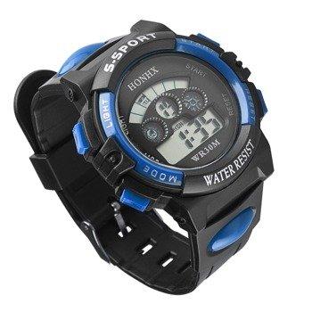 zegarek SPORT BLUE LED, silikonowy