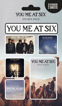 zestaw naklejek YOU ME AT SIX - MIX