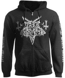 bluza DARK FUNERAL - LOGO BLACK METAL, rozpinana z kapturem
