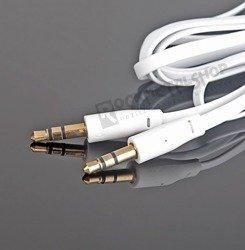 przewód audio płaski FAT SLIM  - JACK /JACK stereo mały (3.5mm) / 1m biały