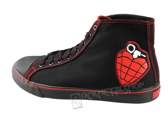 buty DRAVEN - GREEN DAY HIGH black/red