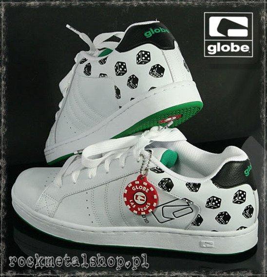 buty GLOBE - FOCUS CRAPS white/black/green
