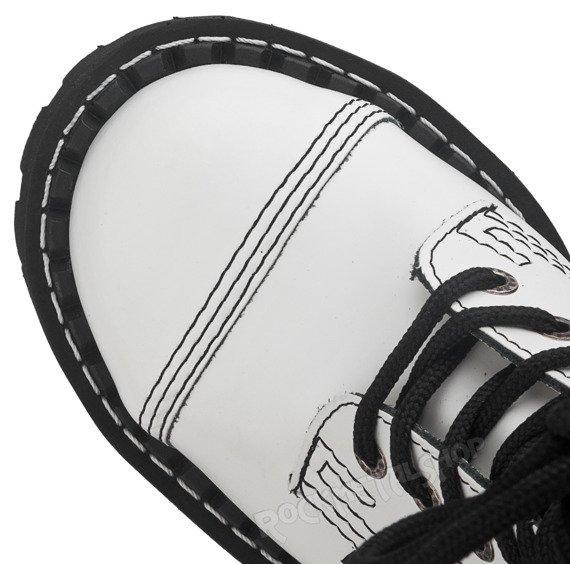 glany STEEL - FULL WHITE (10-dziurkowe)