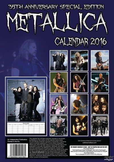 kalendarz METALLICA 2016