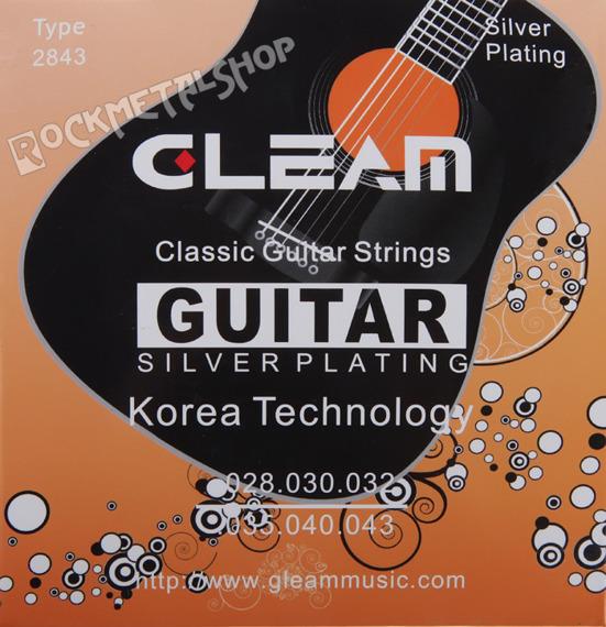 struny do gitary klasycznej GLEAM Silver Plating /028-043/