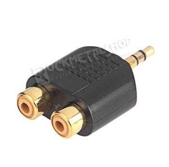 adapter / przejściówka 2 x RCA (cinch) - mały JACK (3.5mm) stereo