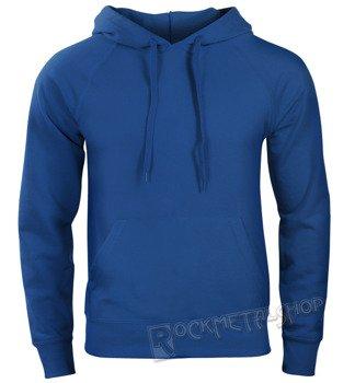bluza FRUIT OF THE LOOM - ROYAL BLUE bez nadruku, kangurka z kapturem
