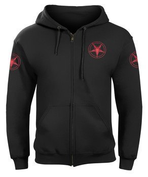 bluza PENTAGRAM RED rozpinana, z kapturem