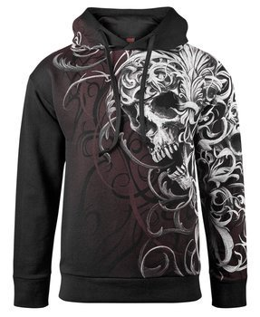 bluza SKULL SHOULDER WRAP, z kapturem