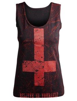 bluzka damska AMENOMEN - BELIEVE IN YOURSELF na ramiączkach (OMEN003DAR ALLPRINT RED)