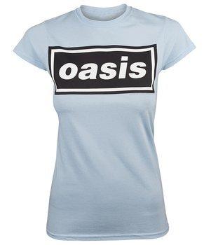 bluzka damska OASIS - DECCA LOGO blue