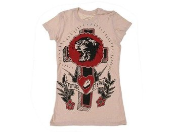 bluzka damska SOMETHING SACRED - Tiger Cross on Destroyed Tee