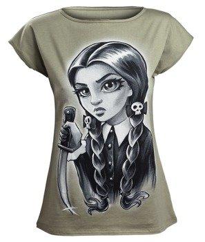 bluzka damska SPOOKY GIRL, oliwkowa