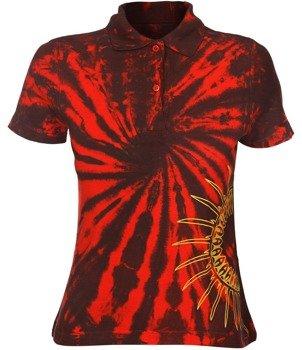 bluzka polo barwiona RED MIX - IROKEZ