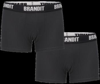 bokserki BRANDIT LOGO - 2 pary BLACK + BLACK