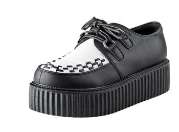 buty damskie creepers SMITHS (BLACK)