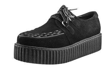 buty damskie creepers SMITHS (BLACK) zamszowe