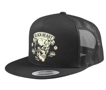 czapka BLACK HEART - DEVIL SKULL