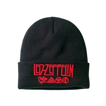 czapka LED ZEPPELIN - LOGO, zimowa