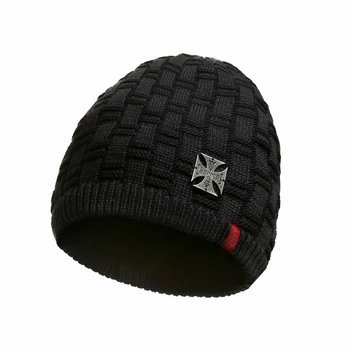 czapka zimowa WEST COAST CHOPPERS - METAL PATCH BEANIE BLACK