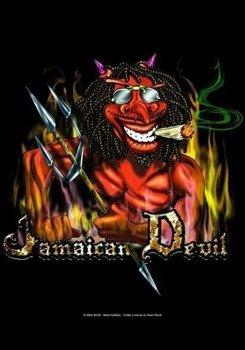 flaga RASTAMAN - JAMAICAN DEVIL