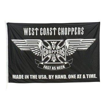 flaga WEST COAST CHOPPERS - FAST AS HECK (100cm x150cm) black