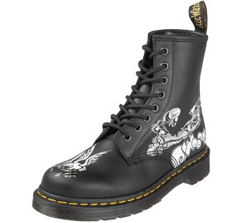 glany DR. MARTENS - DM 1460 RG BW BLACK+WHITE RICK GRIFFIN BACKHAND (DM24876009)