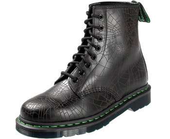 glany DR. MARTENS - DM 1460 SW BLACK SKULL WEB SMOOTH (DM23901001)