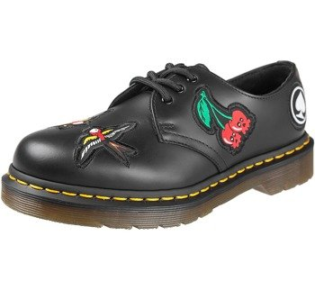 glany DR.MARTENS - DM 1461 PATCH BLACK SMOOTH (DM24435001)