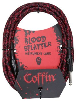 "kabel do gitary COFFIN ""BLOOD SPLATTER"" CF-ICBS10 / jack prosty / 3m"
