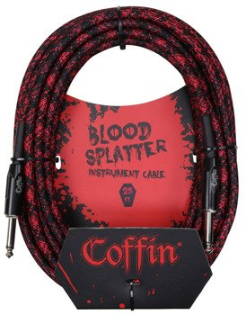 "kabel do gitary COFFIN ""BLOOD SPLATTER"" CF-ICBS25 / jack prosty / 7,6m"