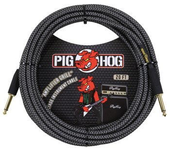 "kabel do gitary PIG HOG ""Amp Grill"" jack prosty 6m"