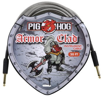 "kabel do gitary PIG HOG ""Armor Clad"" jack prosty, 6m"