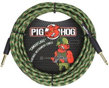 """kabel do gitary PIG HOG """"Camouflage"""" jack prosty, 6m"""
