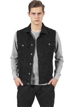kamizelka DENIM VEST blackdark jeansowa