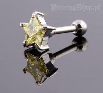 kolczyk piercing do ucha UPPER EAR GWIAZDA [TIP-158]