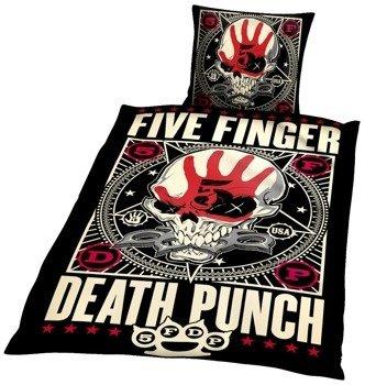 komplet pościelowy FIVE FINGER DEATH PUNCH - PUNCHAGRAM, kołdra (135*200) + poduszka (80*80)