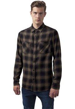 koszula CHECKED FLANELL 3 blk/olive