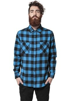koszula CHECKED FLANELL blk/tur