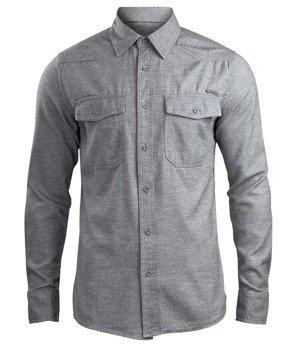 koszula SHIRT IN TWEEDOPTIC grey-off white
